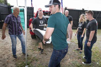 Easton Corbin helps Ram Nation Welcome Vets Home